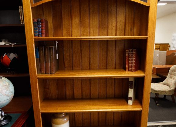 Solid timber bookshelf