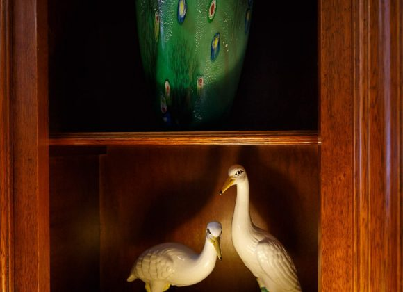 Pair of Italian china birds